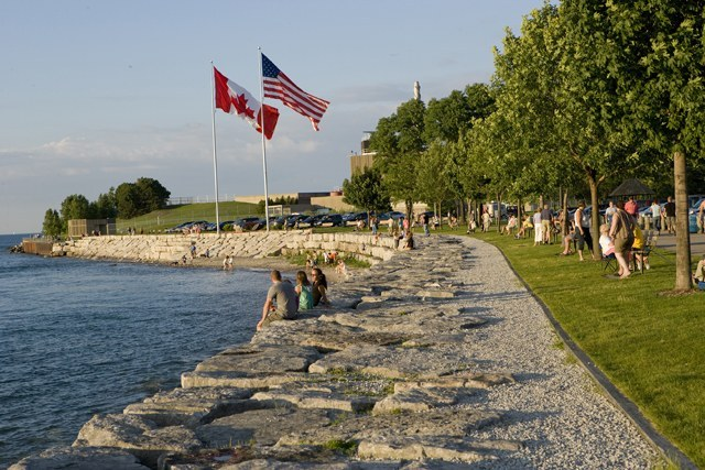 armour stone protection at Point Edward Waterfront Park