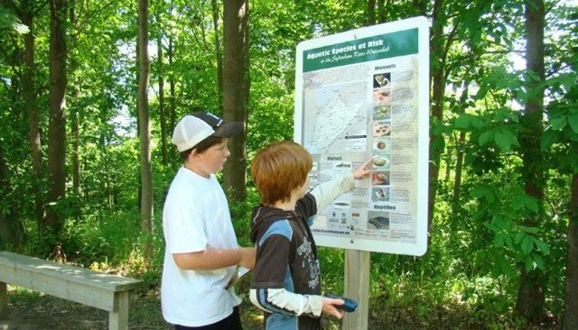 Junior Students participating in a Geocaching Class
