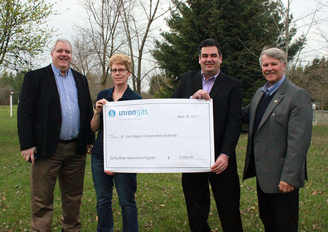 Union Gas Donates $5K to St. Clair Region Conservation Authority